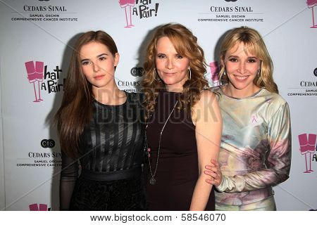 Zoey Deutch, Lea Thompson and Madelyn Deutch at the What a Pair Benefit 2013, Eli Broad Stage, Santa Monica, CA 04-13-13