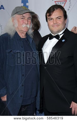 David Crosby, Jack Black at the Light Up The Blues Concert Benefiting Autism Speaks, Club Nokia, Los Angeles, CA 04-13-13