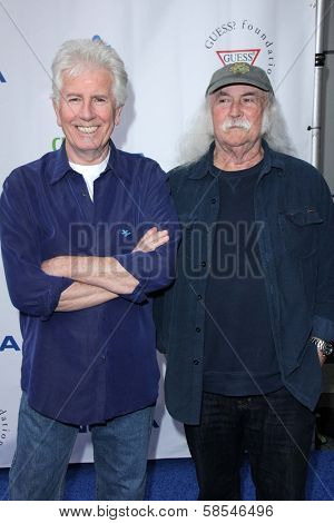 Graham Nash, David Crosby at the Light Up The Blues Concert Benefiting Autism Speaks, Club Nokia, Los Angeles, CA 04-13-13