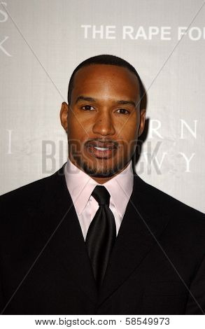 BEVERLY HILLS - APRIL 26: Henry Simmons at the Nina Ricci Fashion Show and Gala Dinner to Benefit The Rape Foundation at Barneys New York on April 26, 2006 in Beverly Hills, CA.