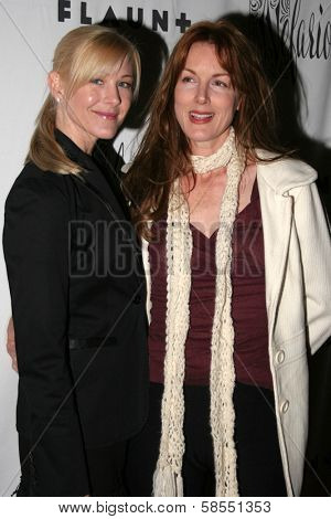 HOLLYWOOD - APRIL 06: Jody Britt and Kathleen York at Flaunt Magazine Presents Nefarious Fine Jewelry Hosted by Velvet Revolver at Black Steel Restaurant on April 06, 2006 in Hollywood, CA.