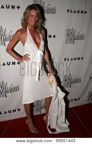 HOLLYWOOD - APRIL 06: Lesa Amoore at Flaunt Magazine Presents Nefarious Fine Jewelry Hosted by Velvet Revolver at Black Steel Restaurant on April 06, 2006 in Hollywood, CA.