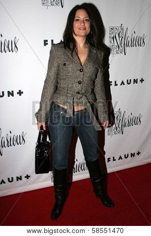 HOLLYWOOD - APRIL 06: Judie Aronson at Flaunt Magazine Presents Nefarious Fine Jewelry Hosted by Velvet Revolver at Black Steel Restaurant on April 06, 2006 in Hollywood, CA.
