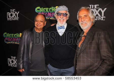 Cheech Marin, Lou Adler and Tommy Chong at the