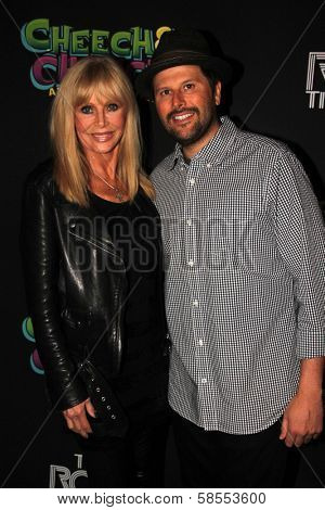 Britt Ekland and son Nick Adler at the