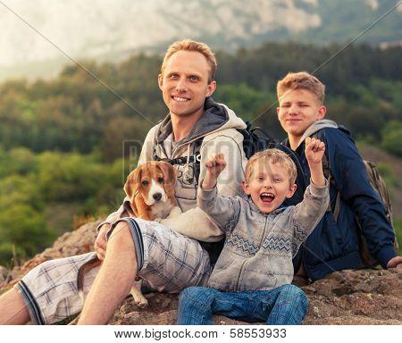 Happy Family Outdoor Portrait