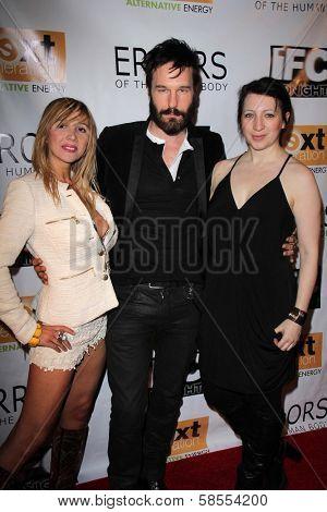 Nadeea, Michael Eklund, Elisa Pugliese at the