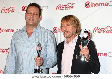 Vince Vaughn, Owen Wilson at the CinemaCon Big Screen Achievement Awards , Caesars Palace, Las Vegas, NV 04-18-13