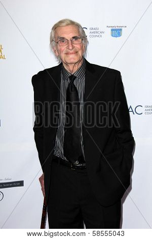 Martin Landau at the  27th Israel Film Festival Opening Night Gala, Writers Guild Theater, Beverly Hills, CA 04-18-13