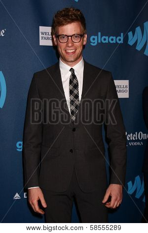 Barrett Foa at the 24th Annual GLAAD Media Awards, JW Marriott, Los Angeles, CA 04-20-13