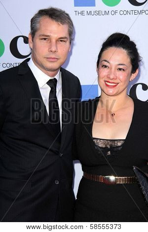 Shepard Fairey and guest at the MOCA Gala, MOCA Grand Avenue, Los Angeles, CA 04-20-13