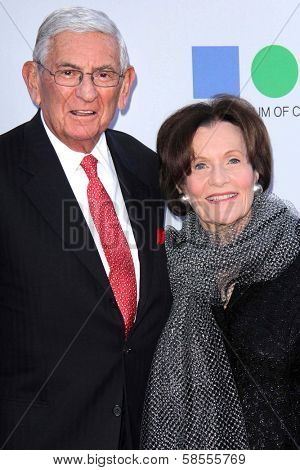 Eli Broad and wife at the MOCA Gala, MOCA Grand Avenue, Los Angeles, CA 04-20-13