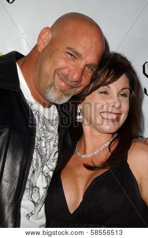 HOLLYWOOD - APRIL 30: Bill Goldberg and Wanda Ferraton at the Larpy Awards at Avalon on April 30, 2006 in Hollywood, CA.