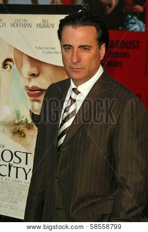 HOLLYWOOD - APRIL 17: Andy Garcia at the Los Angeles Premiere of