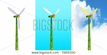 Three Ecological Windmills