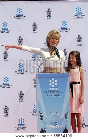 Jane Fonda, Viva Vadim at the Jane Fonda Hand And Foot Print Ceremony as part of the 2013 TCM Classic Film Festival, TCL Chinese Theater, Hollywood, CA 04-27-13