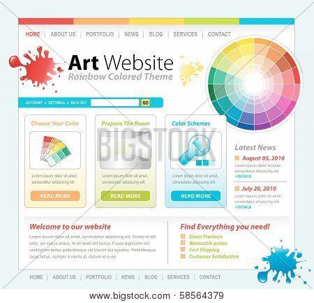 Art Creative Paint Website Template Design
