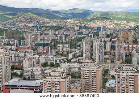 Panoramic view of Sarajevo from Bosmal building