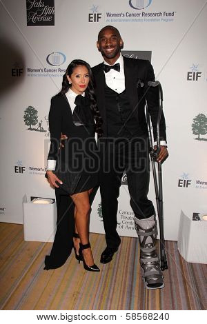 Vanessa Laine Bryant, Kobe Bryant at An Unforgettable Evening Presented by Saks Fifth Avenue, Beverly Wilshire Hotel, Beverly Hills, CA 05-02-13