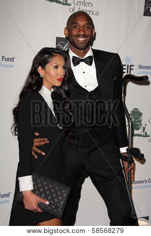 Vanessa Laine Bryant and Kobe Bryant at An Unforgettable Evening Presented by Saks Fifth Avenue, Beverly Wilshire Hotel, Beverly Hills, CA 05-02-13