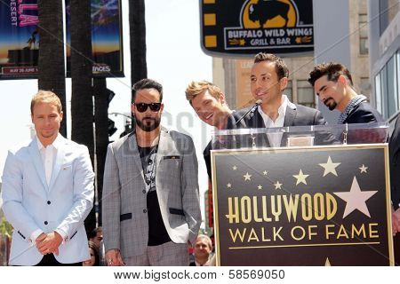 Brian Littrell, AJ McLean, Nick Carter, Howie Dorough and Kevin Richardson at the