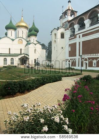 Transfiguration Cathedral And Bell Tower In Monastery Of Saint Euthymius, Suzdal, Russia