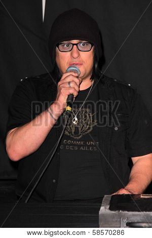 Robby Takac at the Goo Goo Dolls RockWalk Induction, Guitar Center, Hollywood, CA 05-07-13