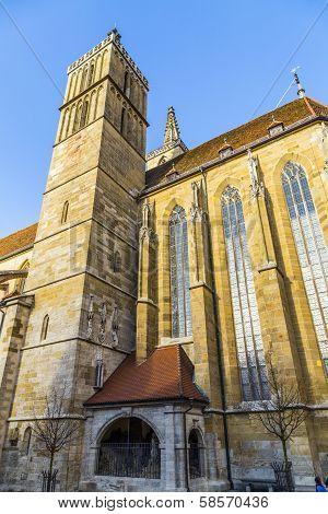St. Jakobs-church At Rothenburg Ob Der Tauber