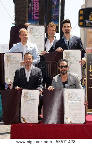 Brian Littrell, Howie Dorough, Nick Carter, AJ McLean, Kevin Richardson at the