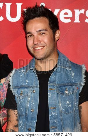 Pete Wentz at the 2013 NBC Universal Summer Press Day , Langham Huntington Hotel, Pasadena, CA 04-22-13