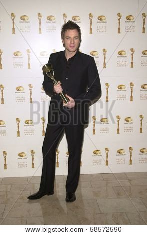 Ewan McGregor at the 6TH ANNUAL GOLDEN SATELLITE AWARDS:  Thrown by the International Press Academy, honoring Moulin Rouge and Karl Malden at St. Regis Hotel, Century City, 1-19-02