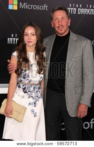 Larry Ellison and Nikita Kahn at the