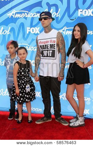 Travis Barker at the American Idol Season 12 Finale Arrivals, Nokia Theater, Los Angeles, CA 05-16-13