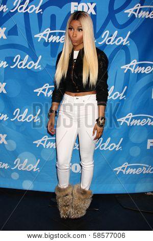 Nicki Minaj at the American Idol Season 12 Finale Press Room, Nokia Theater, Los Angeles, CA 05-16-13