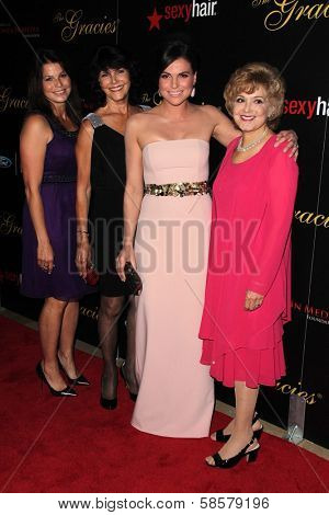 Lana Parilla, Mother, aunt Candice Azzara and Niece at the 2013 Gracie Awards Gala, Beverly Hilton Hotel, Beverly Hills, CA 05-21-13