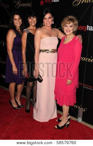 Lana Parilla, Mother, aunt Candice Azzara, Niece at the 2013 Gracie Awards Gala, Beverly Hilton Hotel, Beverly Hills, CA 05-21-13