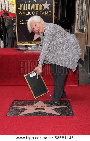 Olympia Dukakis at the Olympia Dukakis Star on the Hollywood Walk of Fame Ceremony, Hollywood, CA 05-24-13