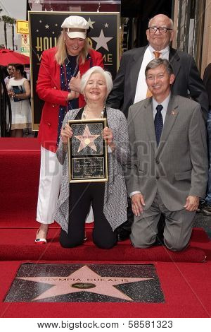 Diane Ladd, Ed Asner, Olympia Dukakis, Leron Gubler at the Olympia Dukakis Star on the Hollywood Walk of Fame Ceremony, Hollywood, CA 05-24-13