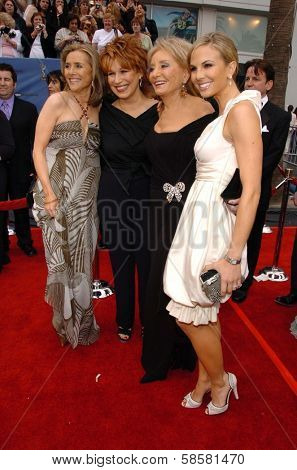 HOLLYWOOD - APRIL 28: Meredith Vieira, Joy Behar, Barbara Walters and Elisabeth Hasselbeck at The 33rd Annual Daytime Emmy Awards at Kodak Theatre on April 28, 2006 in Hollywood, CA.