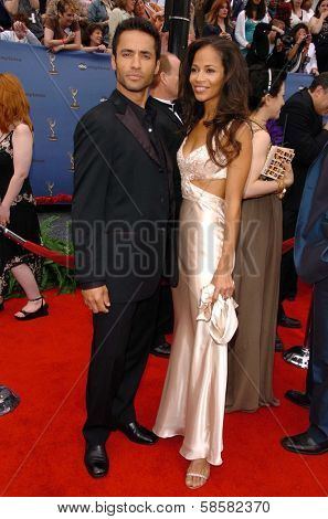 HOLLYWOOD - APRIL 28: Sherri Saum and friend at The 33rd Annual Daytime Emmy Awards at Kodak Theatre on April 28, 2006 in Hollywood, CA.