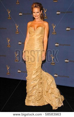 HOLLYWOOD - APRIL 28: Sharon Case in the press room at The 33rd Annual Daytime Emmy Awards at Kodak Theatre on April 28, 2006 in Hollywood, CA.