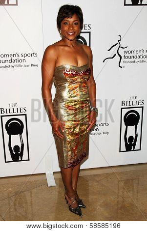 BEVERLY HILLS - APRIL 20: Dominique Dawes at the inaugural The Billies presented by The Women's Sports Foundation at Beverly Hilton Hotel on April 20, 2006 in Beverly Hills, CA.