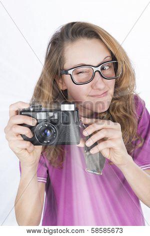 Young Photographer Nerd