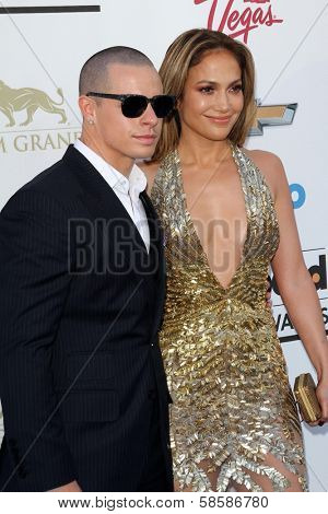 Casper Smart and Jennifer Lopez at the 2013 Billboard Music Awards Arrivals, MGM Grand, Las Vegas, NV 05-19-13