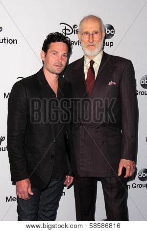 Henry Thomas and James Cromwell at the Disney Media Networks International Upfronts, Walt Disney Studios, Burbank, CA 05-19-13