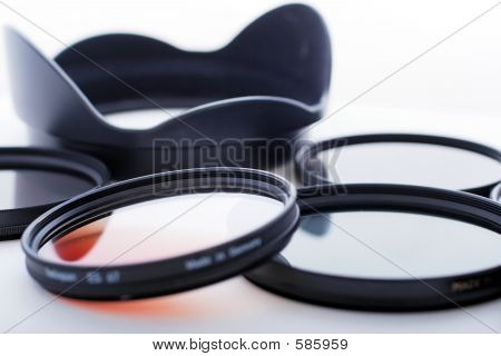 Photo Filters And Lens Hood