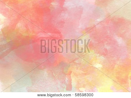 Soft Warm Sweet Watercolor Background.