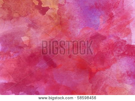 Pink-red Watercolor Background.