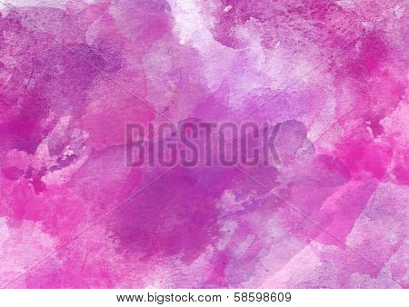 Lovely Purple Watercolor Background.