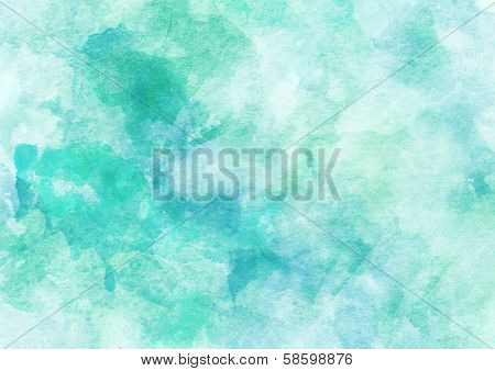 Soft Turquoise Watercolor Background.